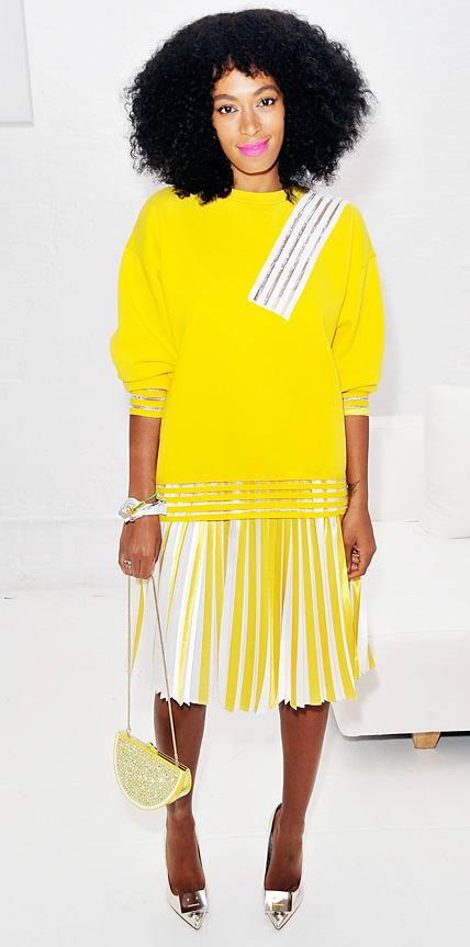Solange Knowles in Christopher Kane