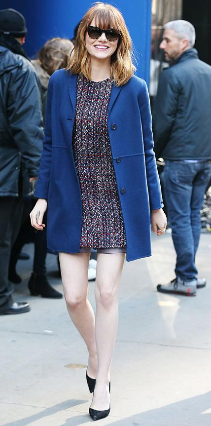 Emma Stone in Dior and Max Mara