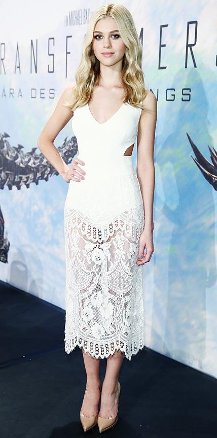 Nicola Peltz in Stella McCartney and Dolce & Gabbana