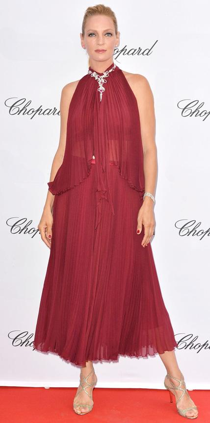 Uma Thurman in Jenny Packham