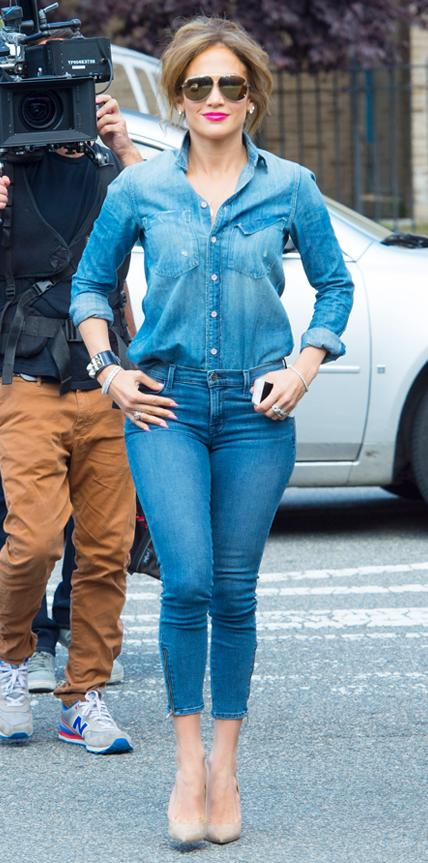 Jennifer Lopez in Mother and J Brand