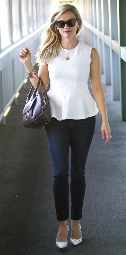 Reese Witherspoon in Frame Denim