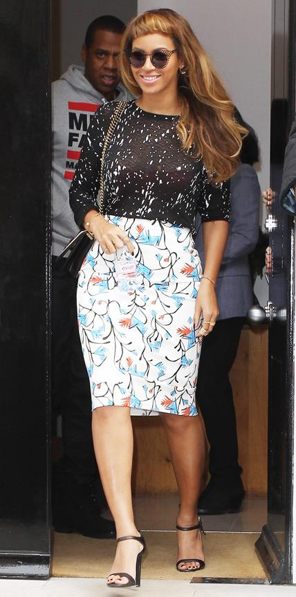 Beyonce in Tanya Taylor