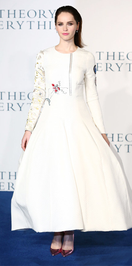 Felicity Jones in Dior Haute Couture