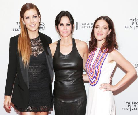"Kate Walsh, Courteney Cox, Olivia Thirlby at the premiere of ""Just Before I Go"", Tribeca Film Festival 2014"