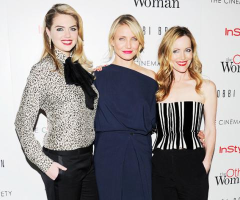 "Kate Upton, Cameron Diaz, Leslie Mann at a screening of ""The Other Woman"""