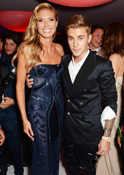 Heidi Klum and Justin Bieber attend amfAR's 21st Cinema Against AIDS Gala after party