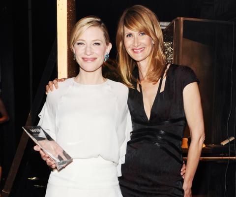 Cate Blanchett and Laura Dern attend Women In Film Crystal + Lucy Awards