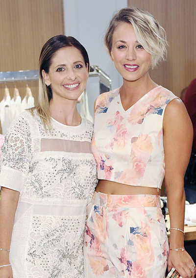 Sarah Michelle Gellar and Kaley Cuoco