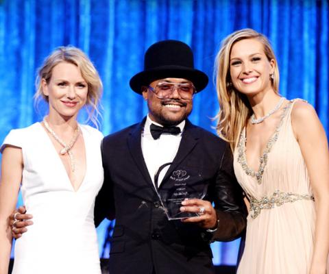 Naomi Watts, Apl.de.ap and Petra Nemcova speak onstage at the Happy Hearts Fund Gala with Chopard 10 year anniversary of the Indian Ocean tsunami tribute