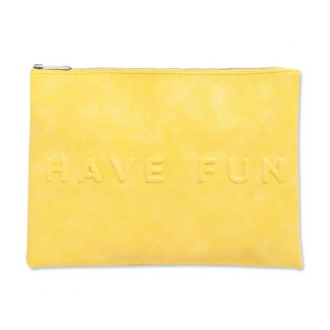 Yellow Zara have fun pouch