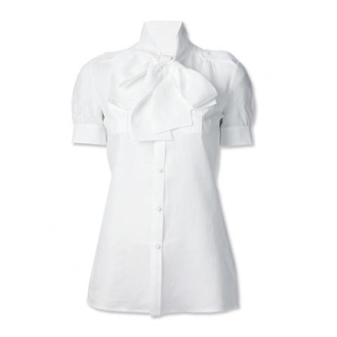 D Squared 2 white bow blouse