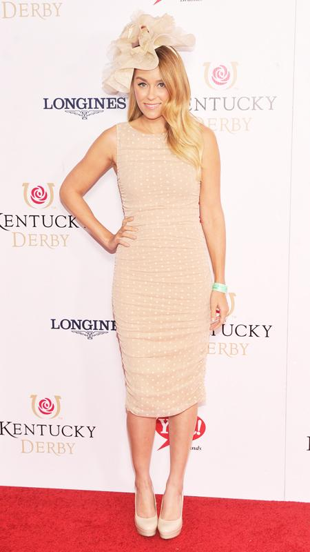 Lauren Conrad wearing hat at Kentucky Derby