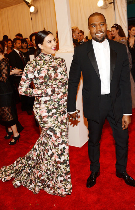 Kim Kardashian and Kanye West attend the Costume Institute Gala