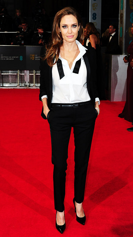 Angelina Jolie attends 2014 BAFTA awards