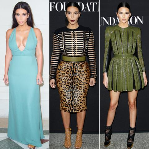 Couture Fashion Week: Kim Kardashian and Kendall Jenner