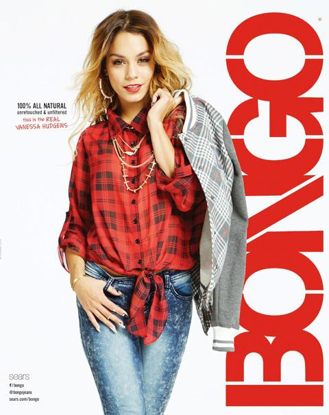 see vanessa hudgens s unretouched bongo campaign plus her major hair