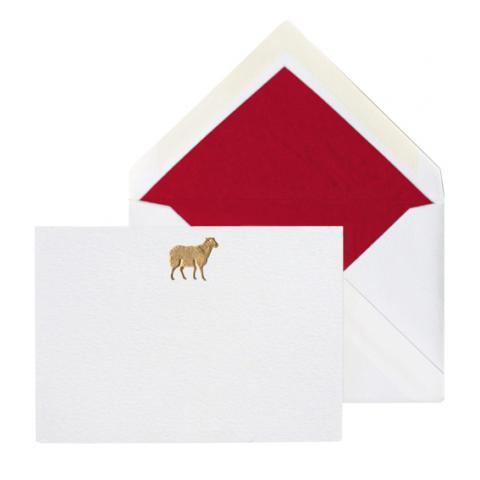 Thornwillow Gold Sheep Notecards and Envelopes