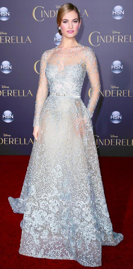 Lily James in Elie Saab Haute Couture