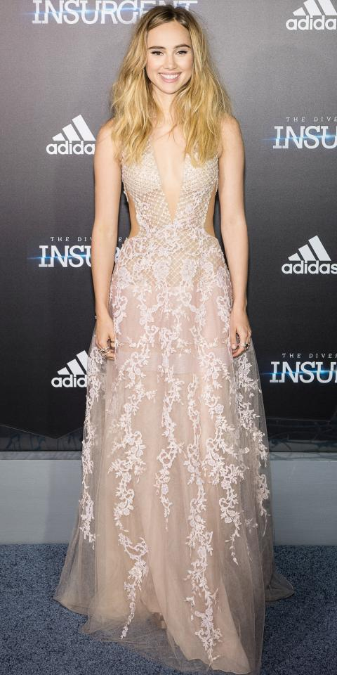 Suki Waterhouse in Reem Acra