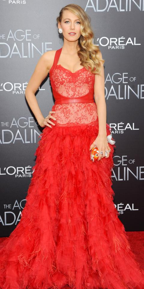 Blake Lively in Monique Lhuillier