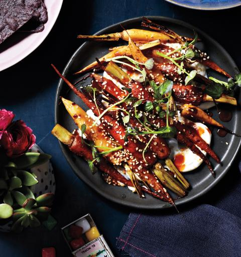 <p>Chipotle Roasted Baby Carrots</p>