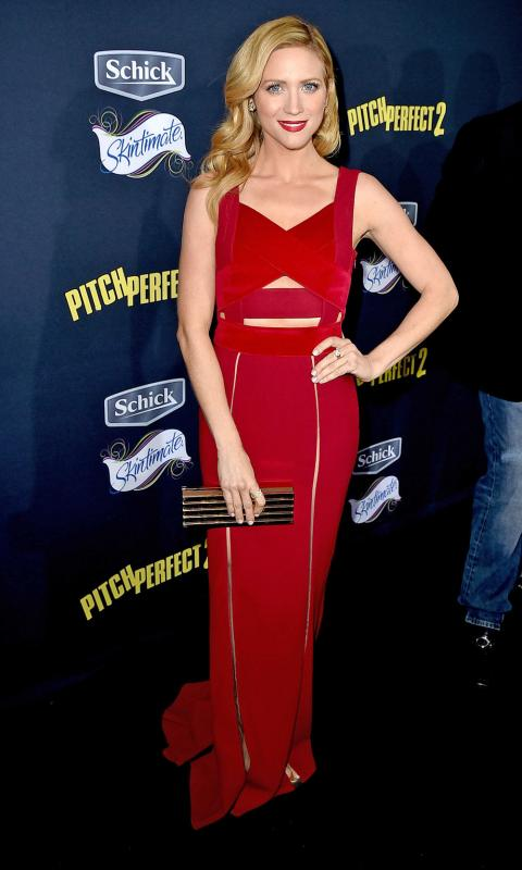 Brittany Snow at Pitch Perfect 2 premiere