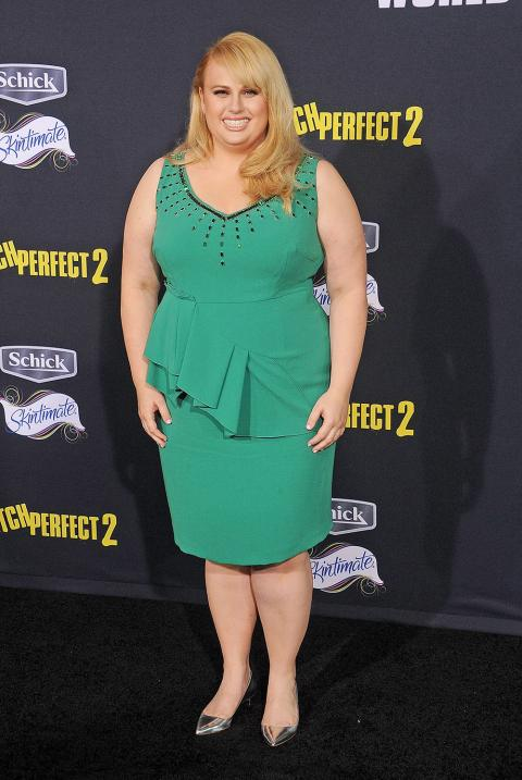 Rebel Wilson at Pitch Perfect 2 premiere