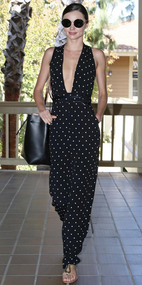 Miranda Kerr plunging neckline in gorgeous jumpsuit - Part 2