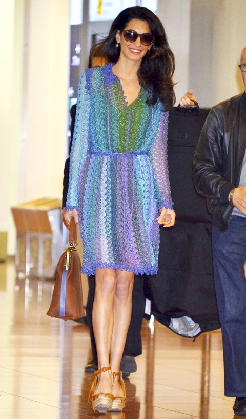 George And Amal Clooney Arrive In Tokyo