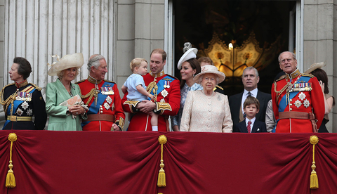 Trooping Of The Colour 2015 Royals On Balcony