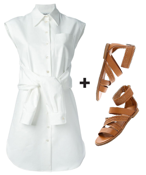 Perfect Pairs - shirtdress & sandals embed 2