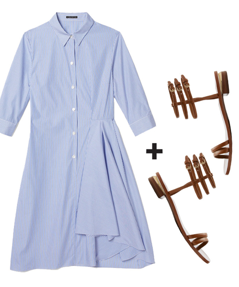 Perfect Pairs - shirtdress & sandals embed 3