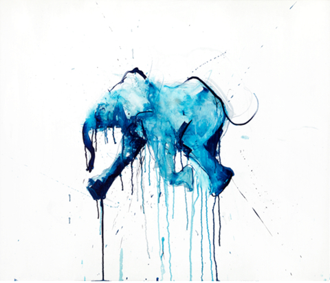 Elephant Sanctuary - Dave White baby elephant painting