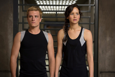 THE HUNGER GAMES: CATCHING FIRE, from left: Josh Hutcherson, Jennifer Lawrence, 2013.
