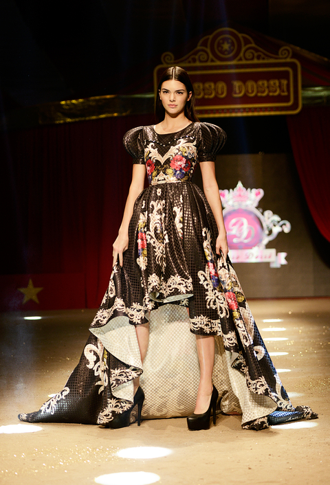 Kendall Jenner in Dosso Dossi Runway Show