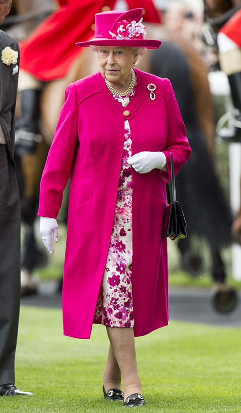 Queen Elizabeth at the Royal Ascot
