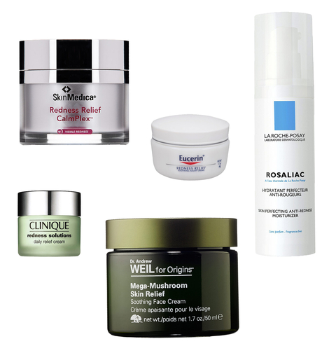 how to clear redness of face