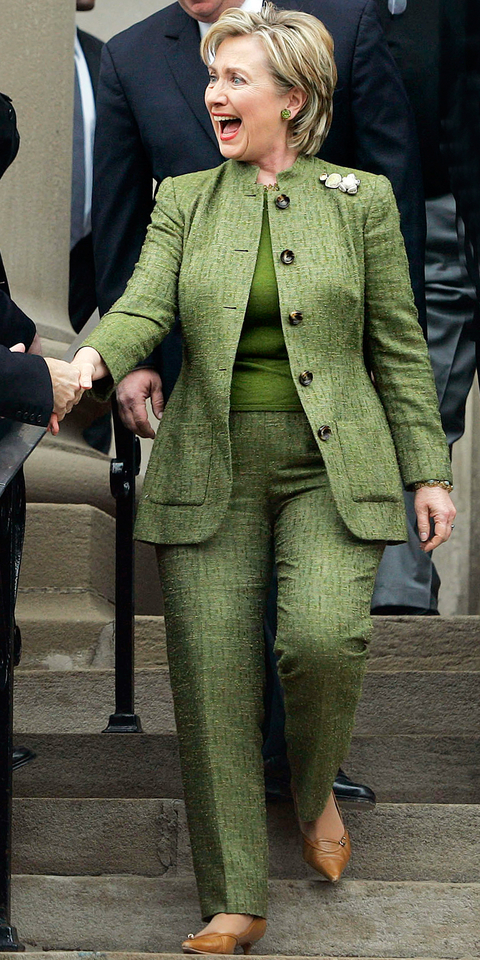 Honda Of Manhattan >> Hillary Clinton's Color Pantsuits | InStyle.com