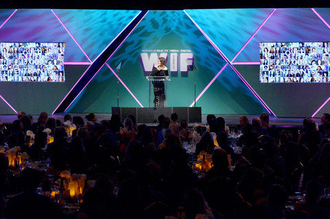 Actress Kristen Stewart speaks onstage during the Women In Film 2015 Crystal + Lucy Awards Presented by Max Mara, BMW of North America, and Tiffany & Co. at the Hyatt Regency Century Plaza on June 16, 2015 in Century City, California.