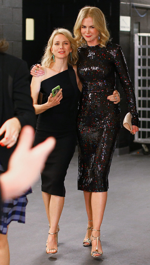 Actress Naomi Watts (L) and honoree Nicole Kidman attend the Women In Film 2015 Crystal + Lucy Awards Presented by Max Mara, BMW of North America, and Tiffany & Co. at the Hyatt Regency Century Plaza on June 16, 2015 in Century City, California.