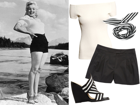 How to Style Shorts Like a Retro Vintage Icon: Marilyn Monroe ...
