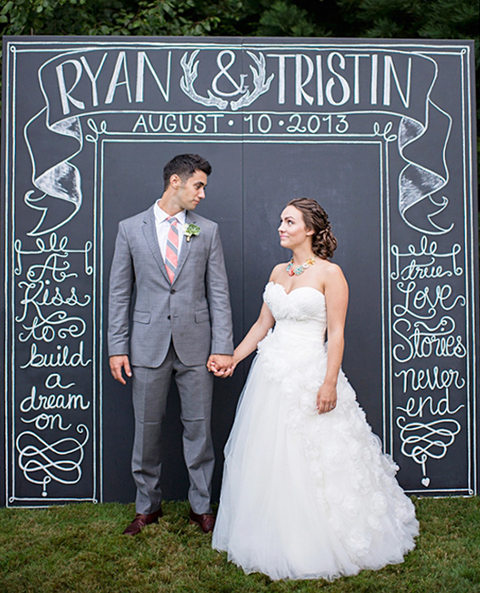 Chalkboard photo backdrop