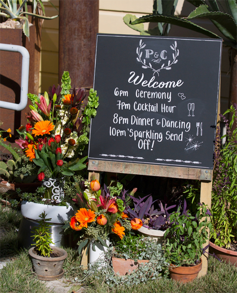Welcome Sign/Wedding Itinerary