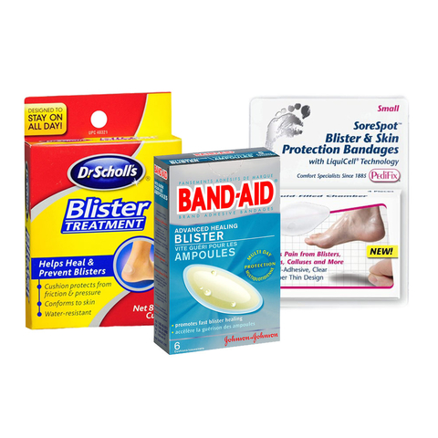 Dr Scholl's Blister Treatment, Band-Aid Advanced Healing Blister, SoreSpot Blister & Skin Protection Bandages
