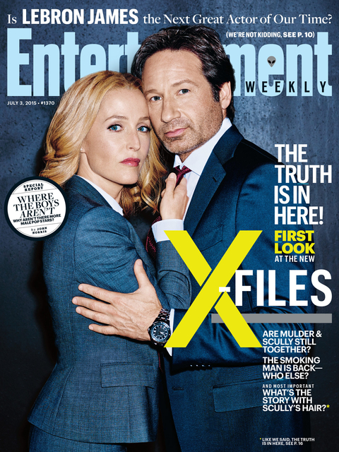 Gillian Anderson and David Duchovny on the cover of Entertainment Weekly