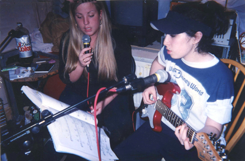 Amy Winehouse and friend
