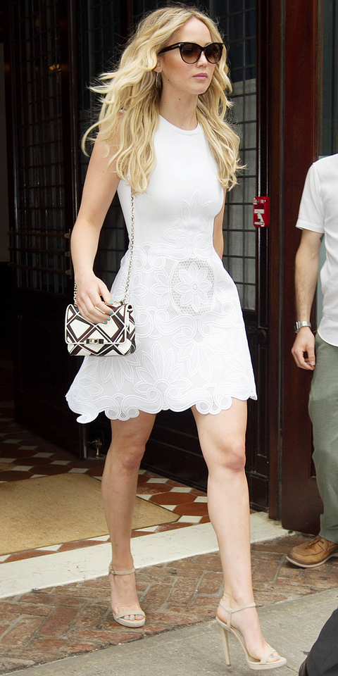 Jennifer Lawrence Leaving the Greenwich Hotel