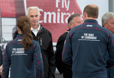 The Duke and Duchess of Cambridge at the Americas Cup Series in Portsmouth