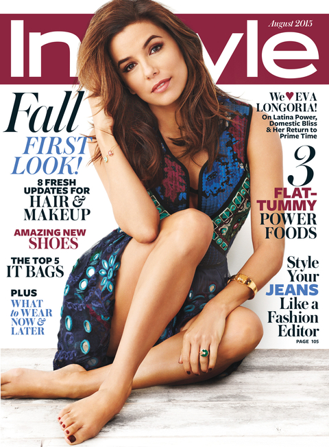 Eva Longoria August 2015 InStyle Cover